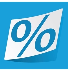 Percent sticker vector