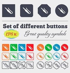 Plug mini jack icon sign big set of colorful vector