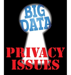Big data privacy security it issues vector