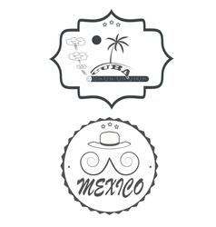 Mexico cuba vector