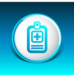 Medical records icon medical check health doctor vector