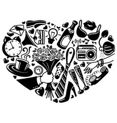 Heart silhouette vector