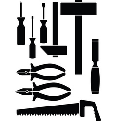 Set of the hand tool vector