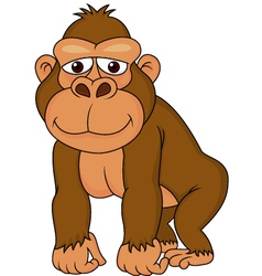Cute gorilla cartoon vector