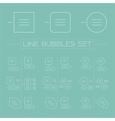 Line bubbles set vector
