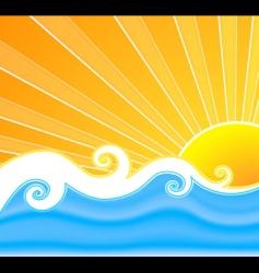 Sunny summer swirls vector