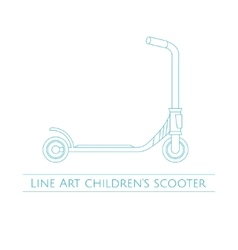 Line art childrens scooter two vector