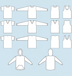 T-shirt sweatshirt and tank top templates vector
