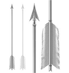 Vintage arrow in engraving style vector