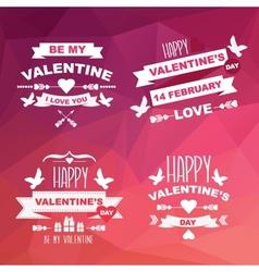 Valentines day set of symbols vector