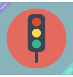 Traffic lights icon - vector