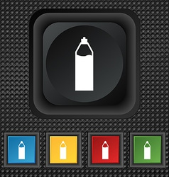 Plastic bottle with drink icon sign symbol squared vector
