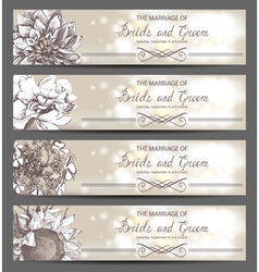 Wedding invitations vector