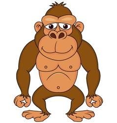 Funny gorilla cartoon vector