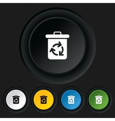 Recycle bin icon reuse or reduce symbol vector