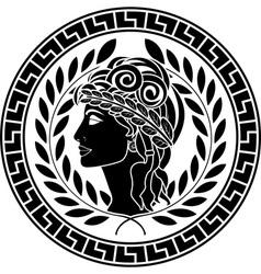 Black stencil of patrician women vector