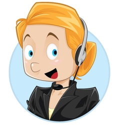 Female customer service vector