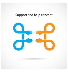 Support and help concept vector