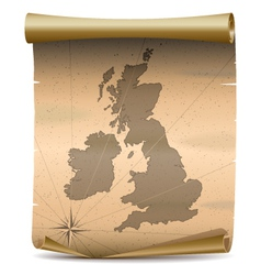 United kingdom vintage map vector
