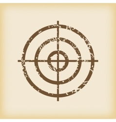 Grungy aim icon vector