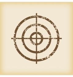 Grungy aim icon vector