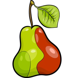 Pear fruit cartoon vector
