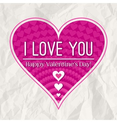 Valentines day greeting card with heart vector