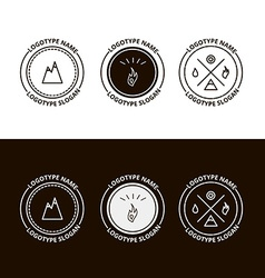 Set of outdoor adventure expedition tourism logo vector