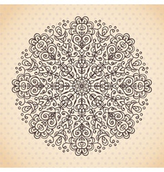 Decorative lace ethnic element vector