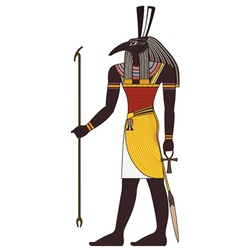 Seth  isolated figure of ancient egypt god vector