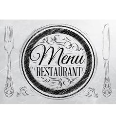 Menu restaurant coal vector