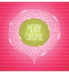 Christmas card holiday background with badge vector