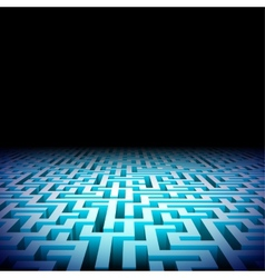 Abstract labyrinth in the darkness vector