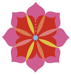 Lotus flower emblem design vector
