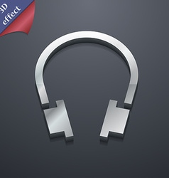 Headsets icon symbol 3d style trendy modern design vector