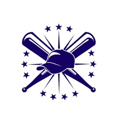 Baseball icon or emblem vector