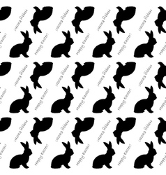 Design seamless easter bunny rabbits pattern vector
