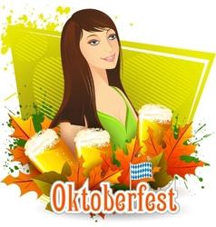 Oktoberfest celebration background vector