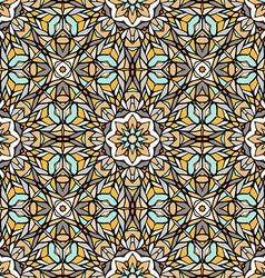 Seamless pattern with abstract decorative mosaic vector