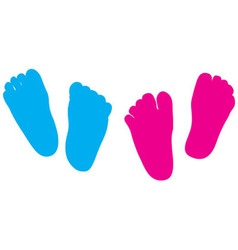 Child feet silhouette vector