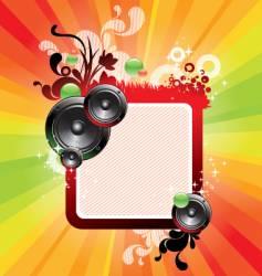 Frame loudspeakers vector