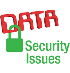 Data security issues secure lock vector