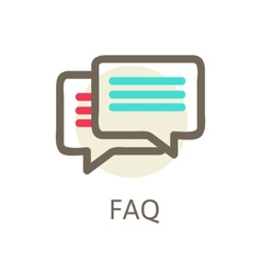 Icons for faq support contact vector