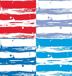 Seamless strip pattern set red blue and white vector