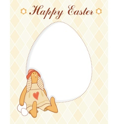 Easter rabbit card vector
