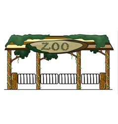 Zoo entrance vector