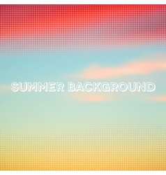 Abstract summer background with halftone overlay vector