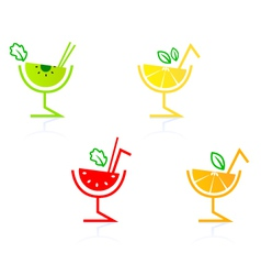 Fruity drinks vector