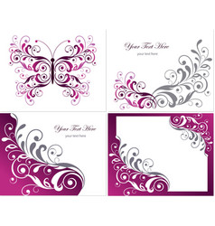 Floral graphics design elements vector