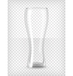 Tall beer glass vector